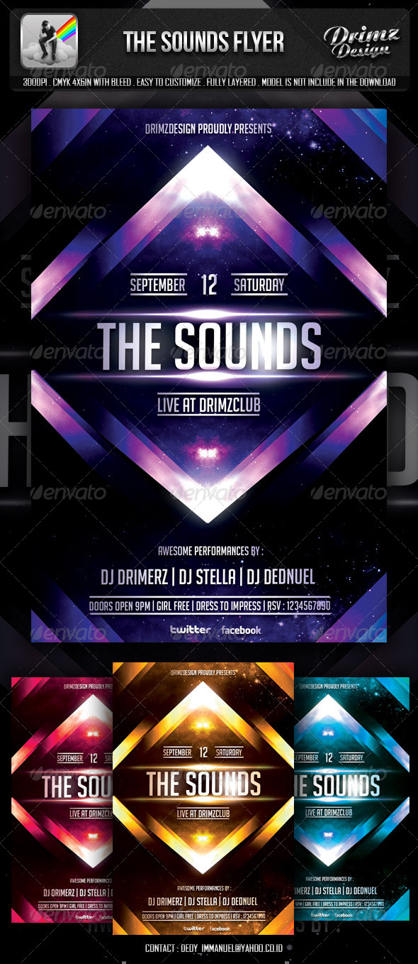 GraphicRiver The Sounds Flyer 5747153