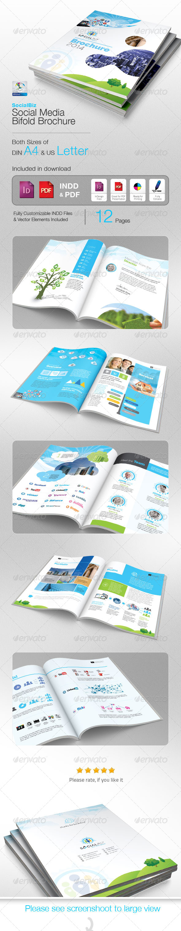 SocialBiz Professional Social Media Brochure - Corporate Brochures