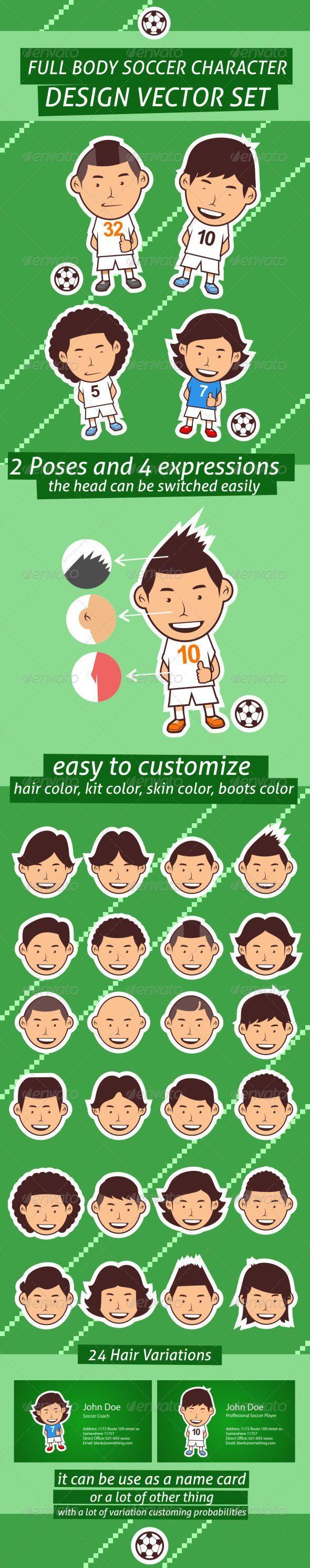 GraphicRiver Full Body Soccer Character Design Set 5747211
