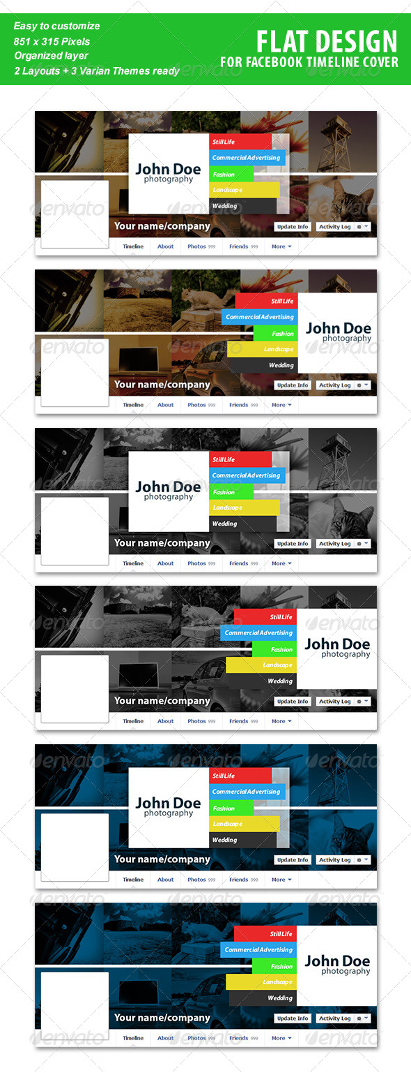 GraphicRiver Flat Bar Facebook Timeline 5747270