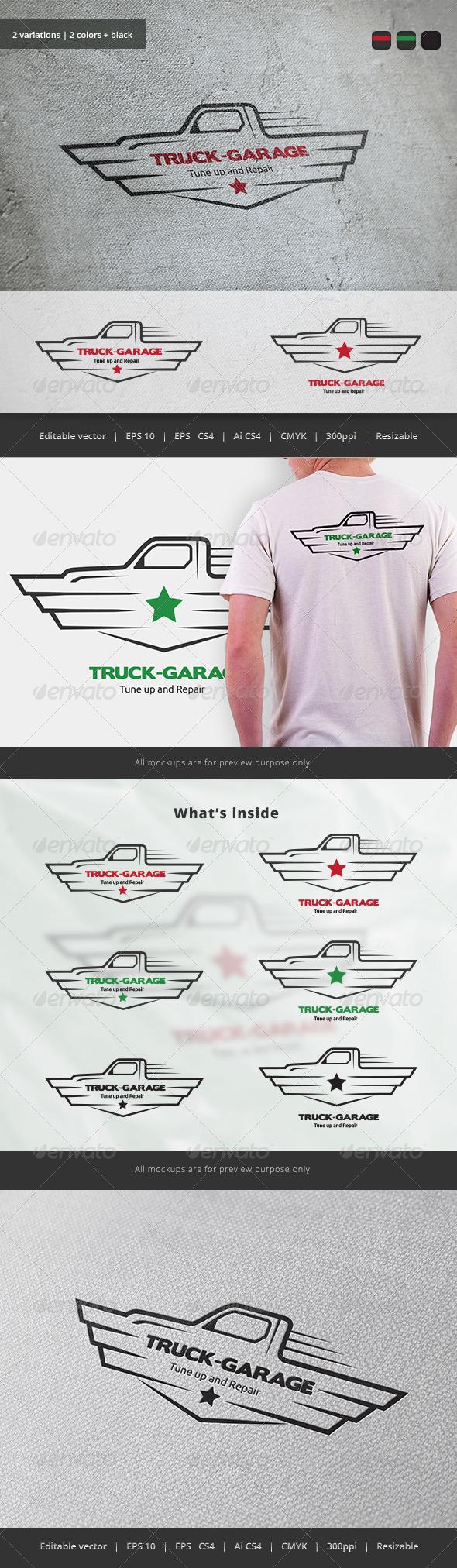 GraphicRiver Truck Garage Crest Logo 5747397