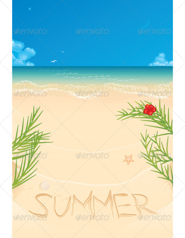 GraphicRiver Summer Landscape 5747457