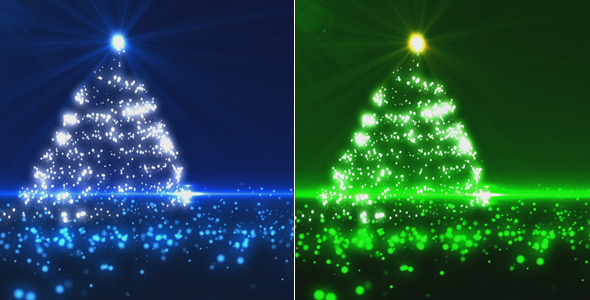 Blue and Green Christmas Tree 2 Pack