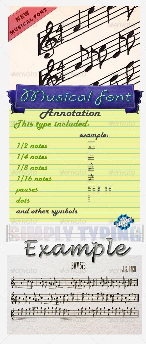 GraphicRiver Musician Font 5705245
