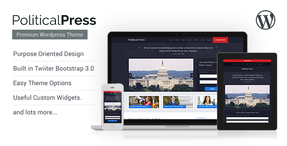 ThemeForest Political Press Responsive WordPress Theme 5748117
