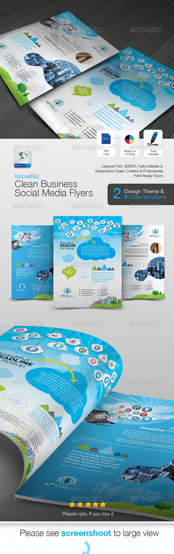 GraphicRiver SocialBiz Social Media Flyer Ad 5748147