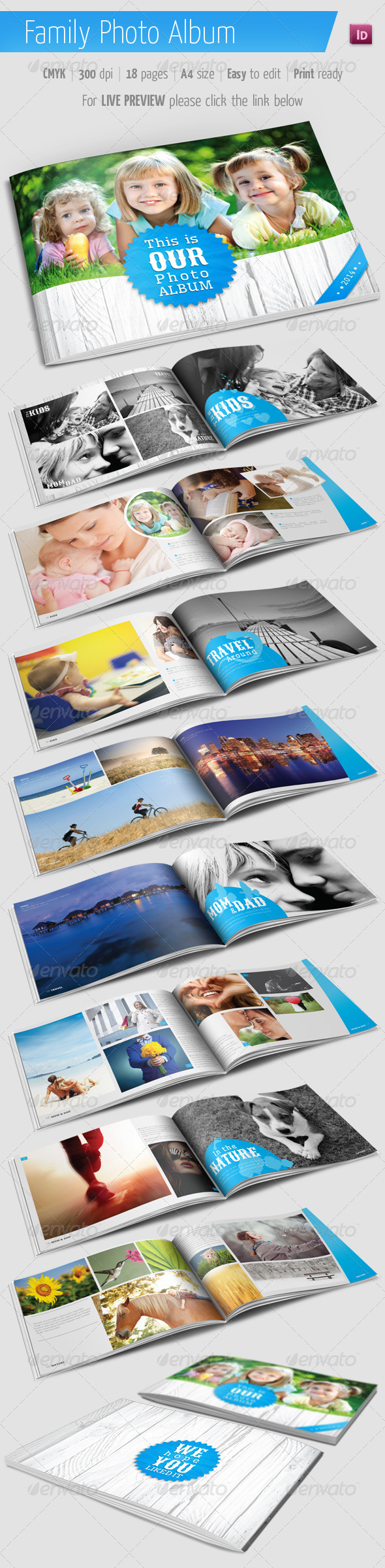 GraphicRiver Family Photo Album for Indesign 5748172