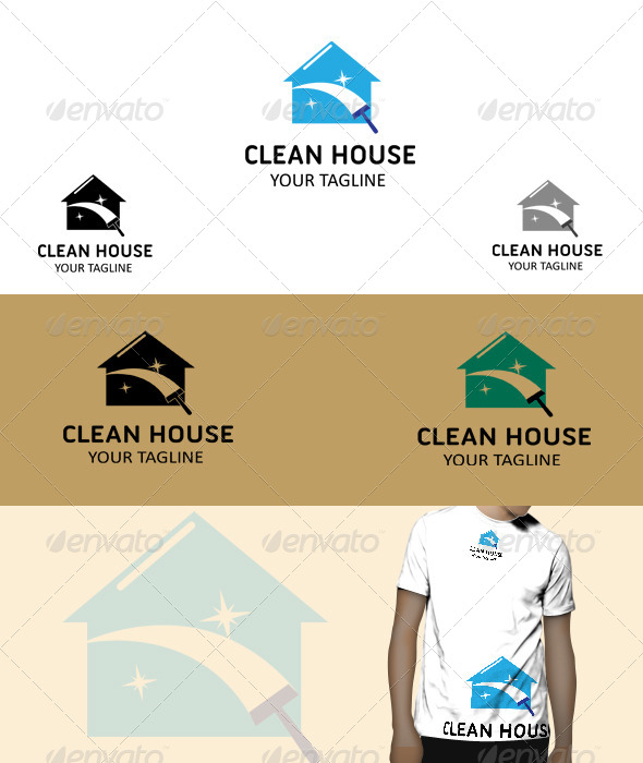 GraphicRiver Clean House Logo 5748210
