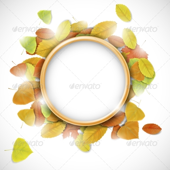 GraphicRiver Place for Text with Autumn Leaves 5748277