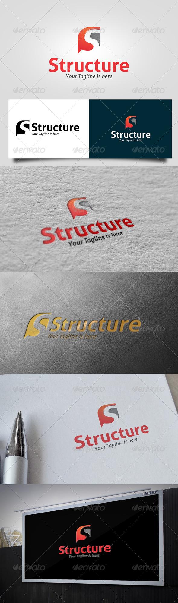 GraphicRiver Structure Logo 5748316