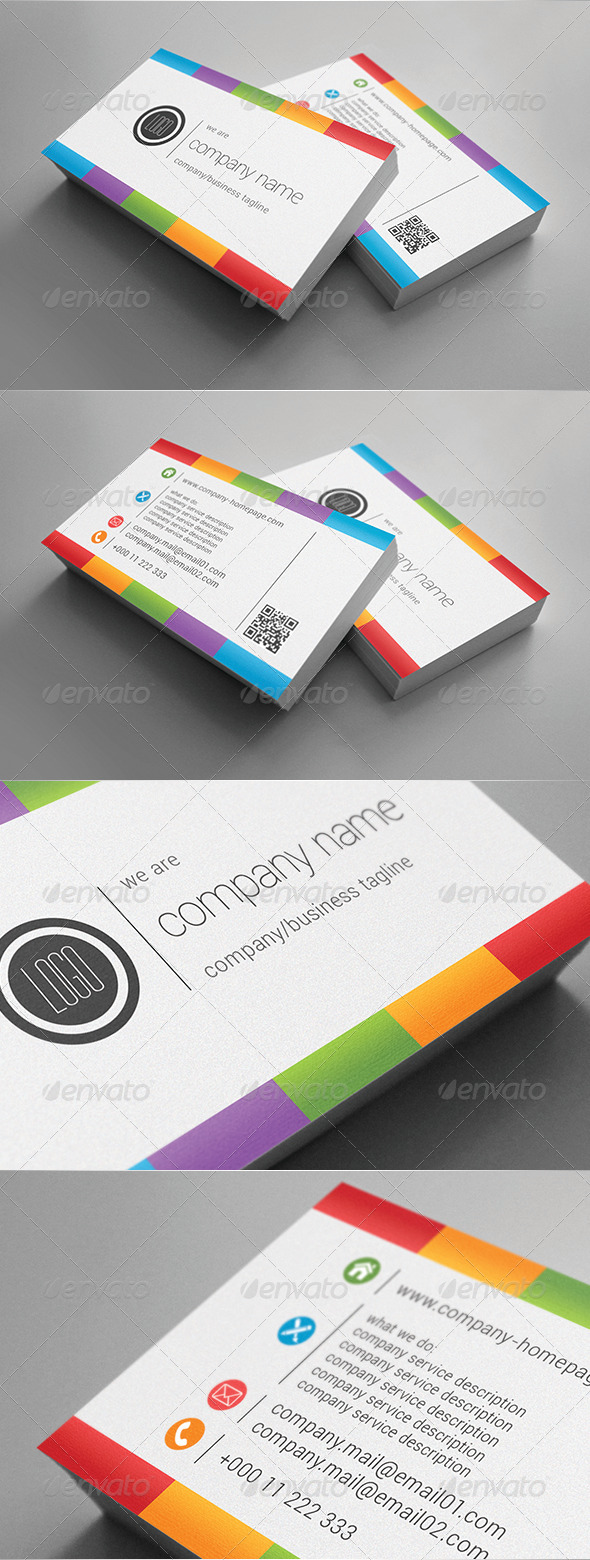 GraphicRiver Light Raibow Business Card 5748512