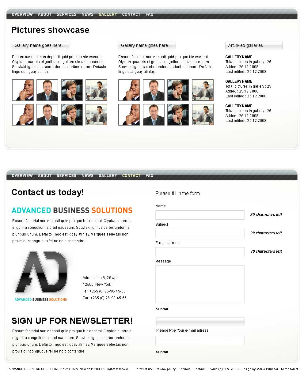 Advanced Business Solutions - Sliced PSD template