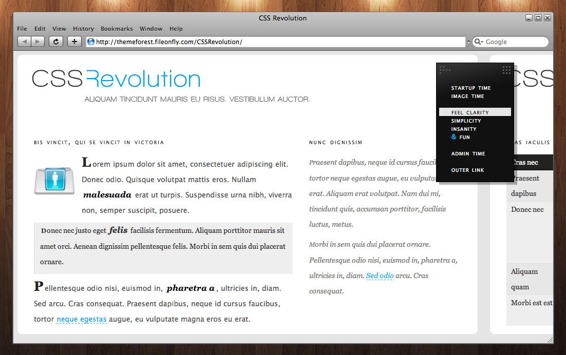 CSS Revolution - Typography example