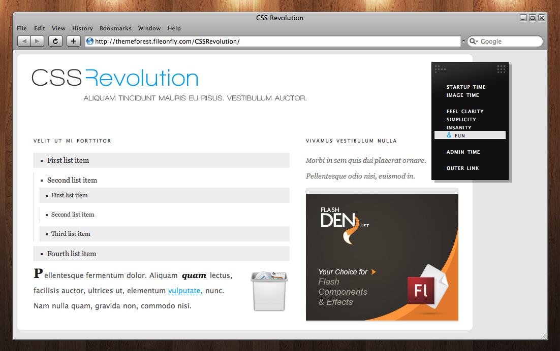 CSS Revolution - Taste the live preview.   CSS Revolution Begins.