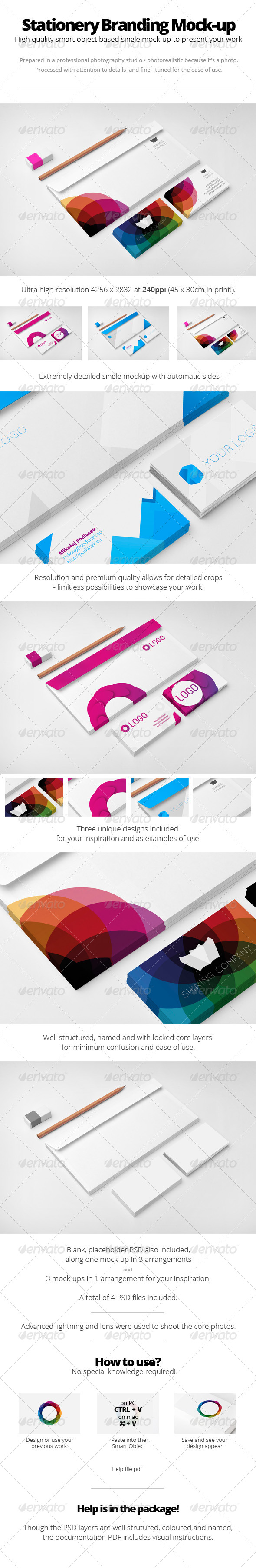 GraphicRiver Premium Stationery Branding Mock-Up 5748936