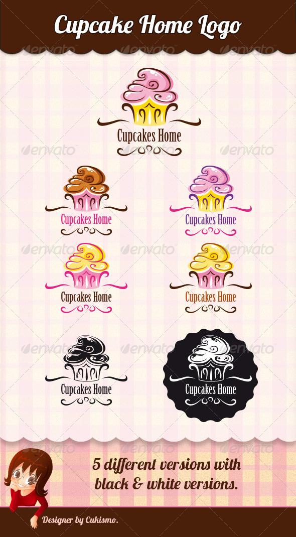 GraphicRiver Cupcake Home Logo 5696081