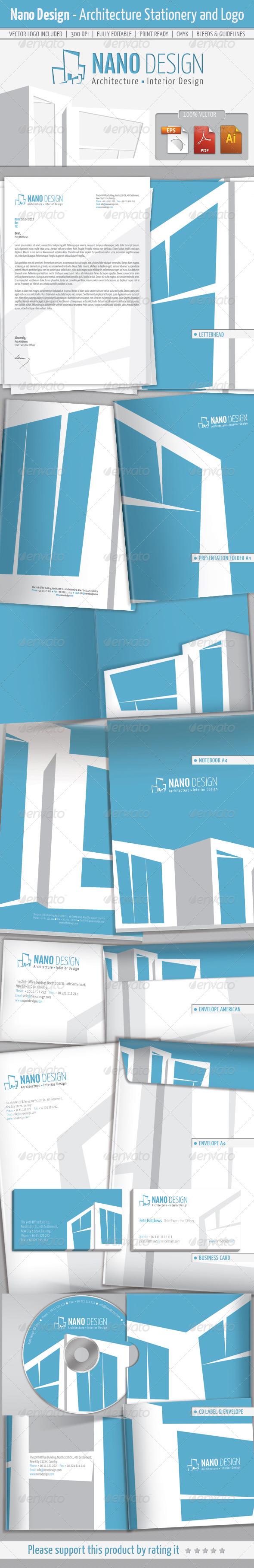 GraphicRiver Nano Design-Architecture Stationery and Logo 5749074