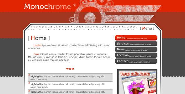 ThemeForest Monochrome 25689