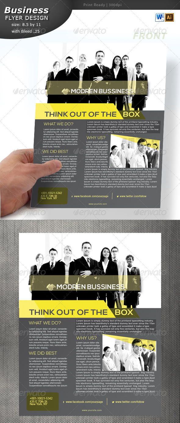 GraphicRiver Business Flyer Design 5749222