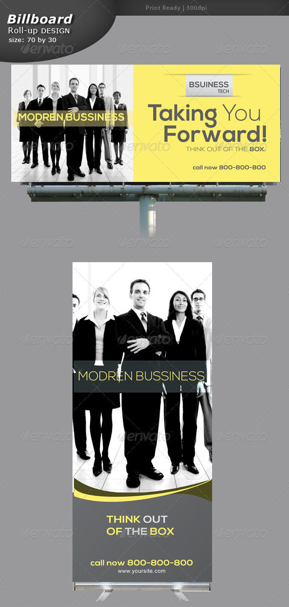GraphicRiver Business Billboard and Rollup Banner Design 5749307