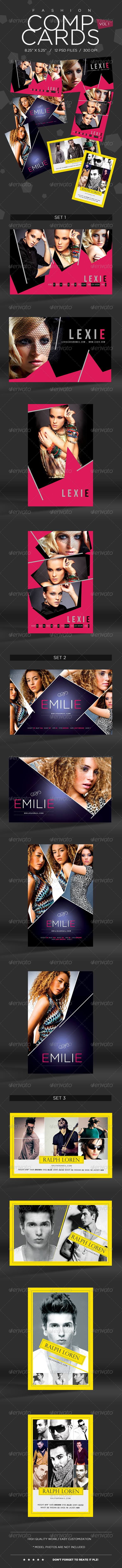 GraphicRiver Model Comp Card Template Kit Vol1 5749992