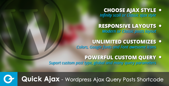 CodeCanyon Quick Ajax Modern Wordpress Ajax Query Posts 5740469