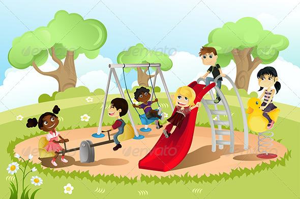 GraphicRiver Children in Playground 5750050