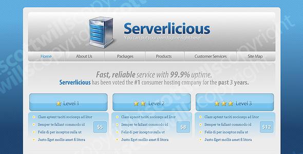 ThemeForest Serverlicious Web Hosting 25705