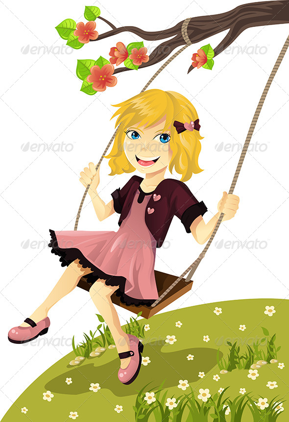 GraphicRiver Girl on a Swing 5750520