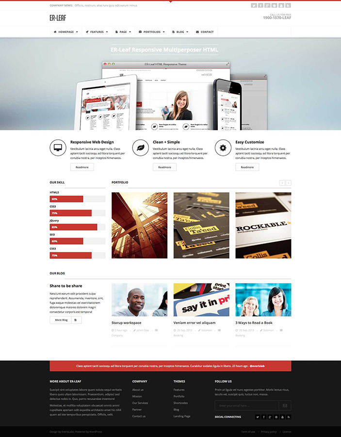 ER Leaf - Responsive Business HTML5 Theme