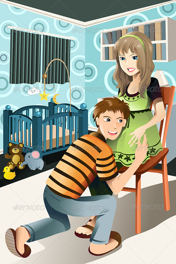 GraphicRiver Happy Pregnant Couple 5750859