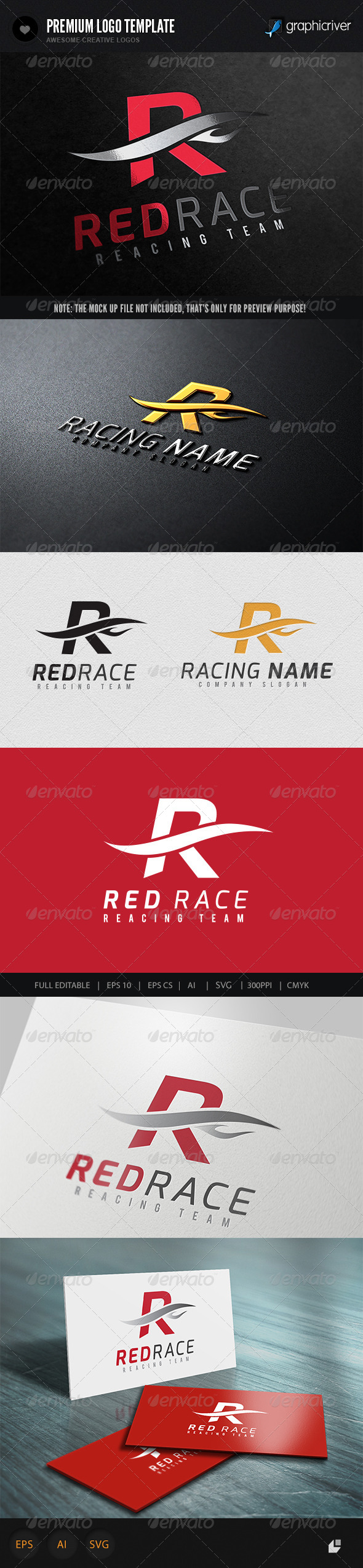 GraphicRiver Red Racing Logo 5751132