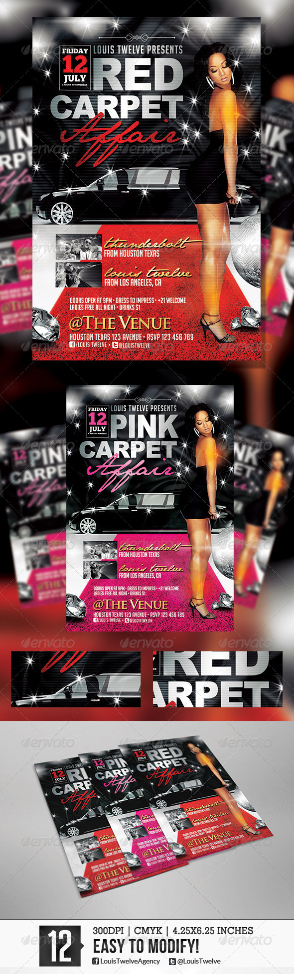 GraphicRiver Red Carpet Affair 3 Flyer Template 5751354