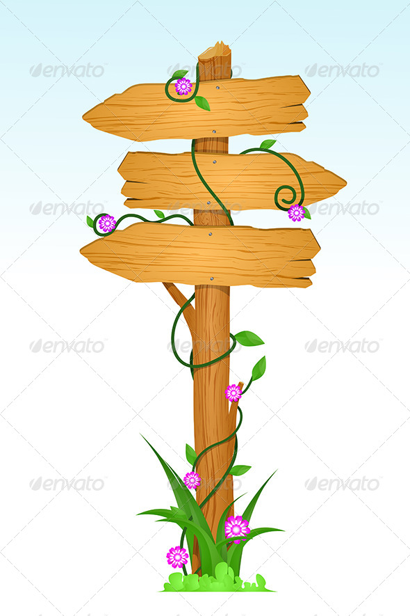 GraphicRiver Wooden Direction Sign 5751488