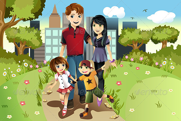 GraphicRiver Family in the Park 5751548