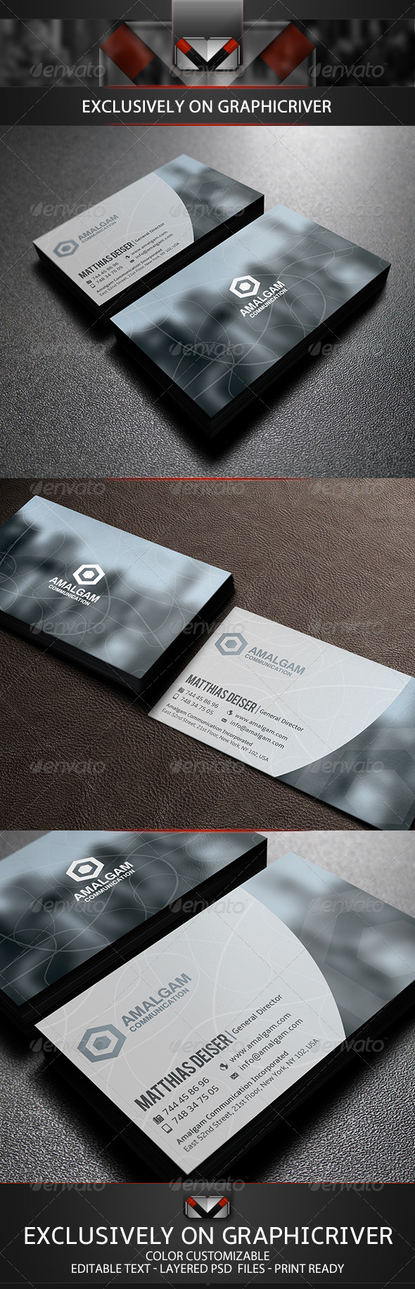 GraphicRiver Clean Corporate Business Card 5751960
