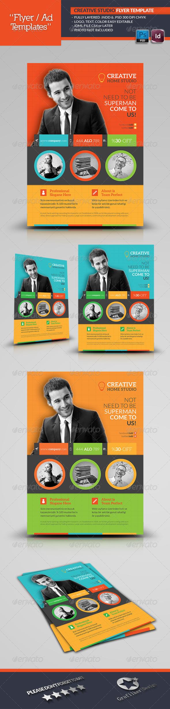 GraphicRiver Creative Studio Flyer Template 5752187