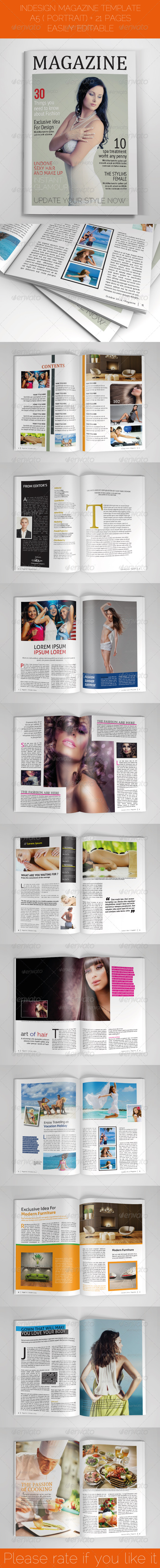 GraphicRiver A5 Portrait Magazine Template 5752346