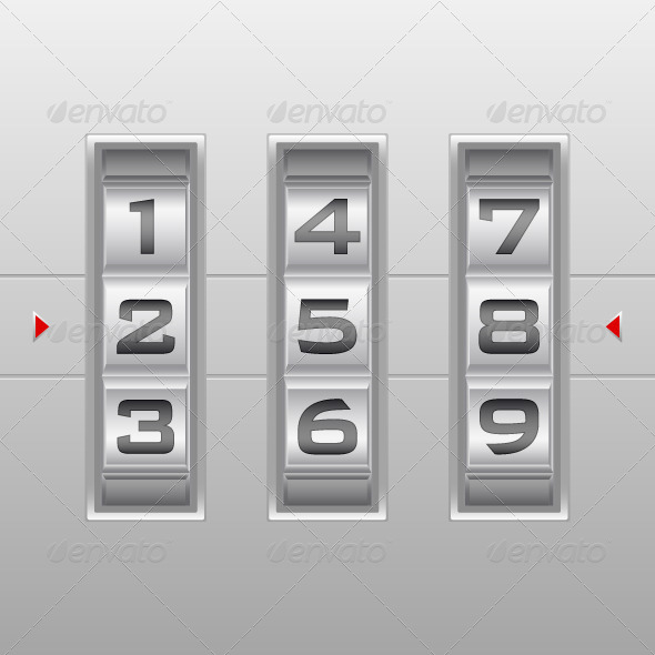GraphicRiver Number Combination Lock 5752381