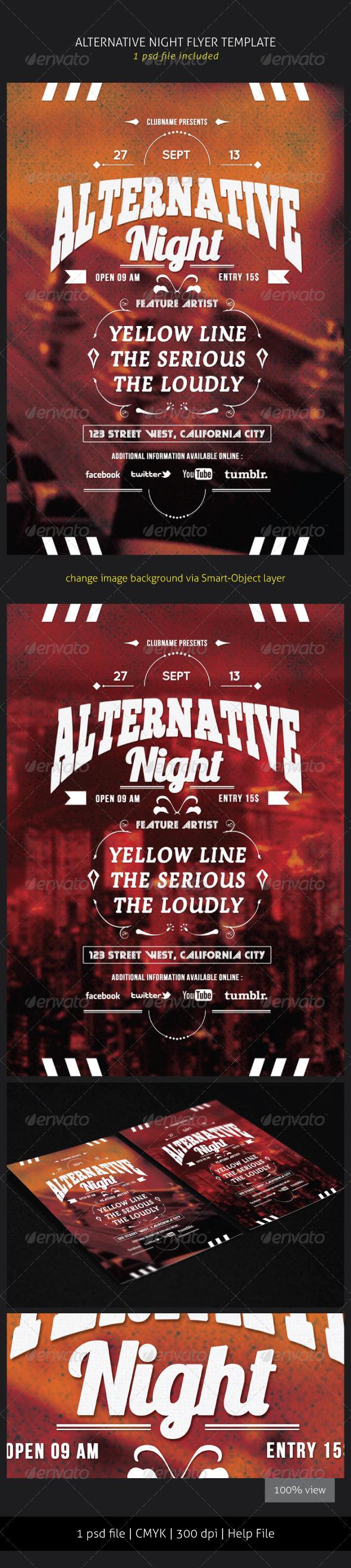 GraphicRiver Alternative Night Flyer Template 5753009
