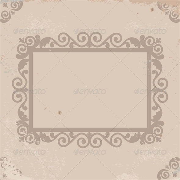 GraphicRiver Vintage Card with Frame on Old Paper 5753158