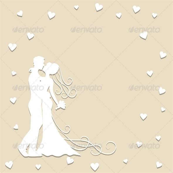 GraphicRiver Paper Wedding Card with Groom and Bride 5753167