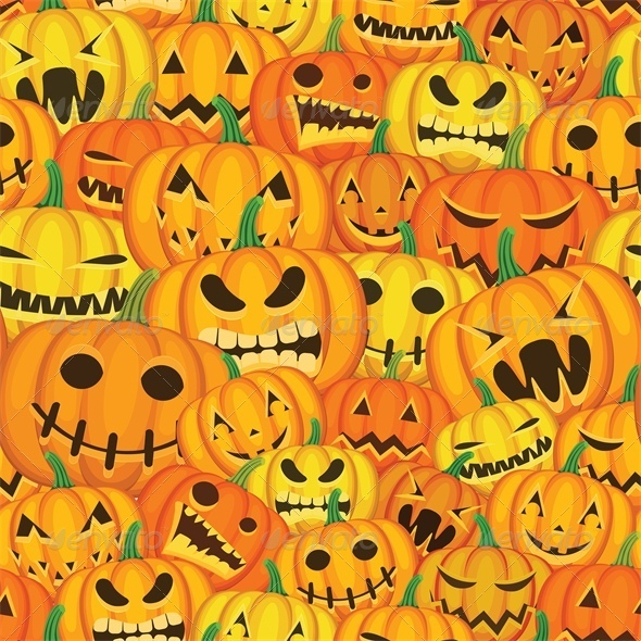 GraphicRiver Seamless Halloween Background with Pumpkins 5753183