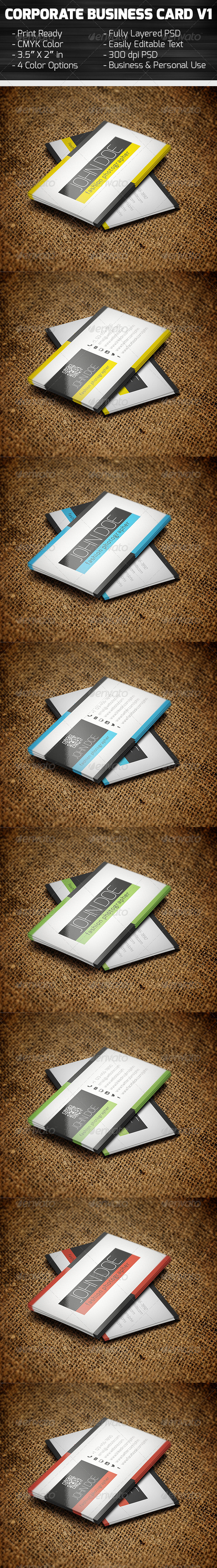 GraphicRiver Clean Corporate Business Card 5753190