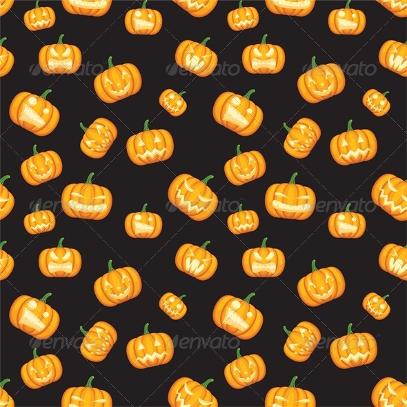 GraphicRiver Seamless Halloween Background with Pumpkins 5753202