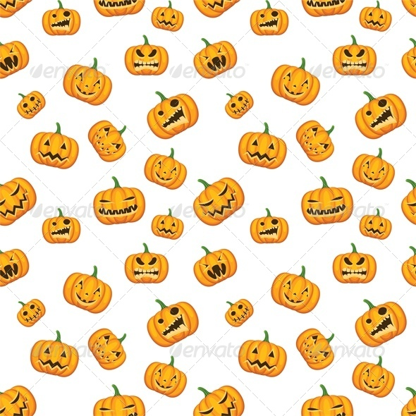 GraphicRiver Seamless Halloween Background with Pumpkins 5753221