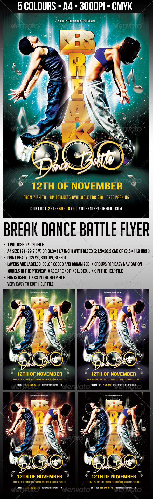 GraphicRiver Break Dance Flyer 5687347