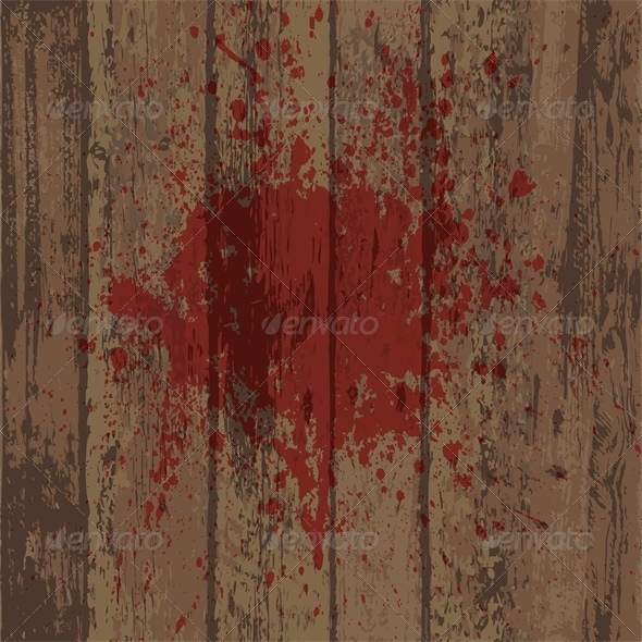 GraphicRiver Wooden Wall or Floor with Blood Stain 5753331