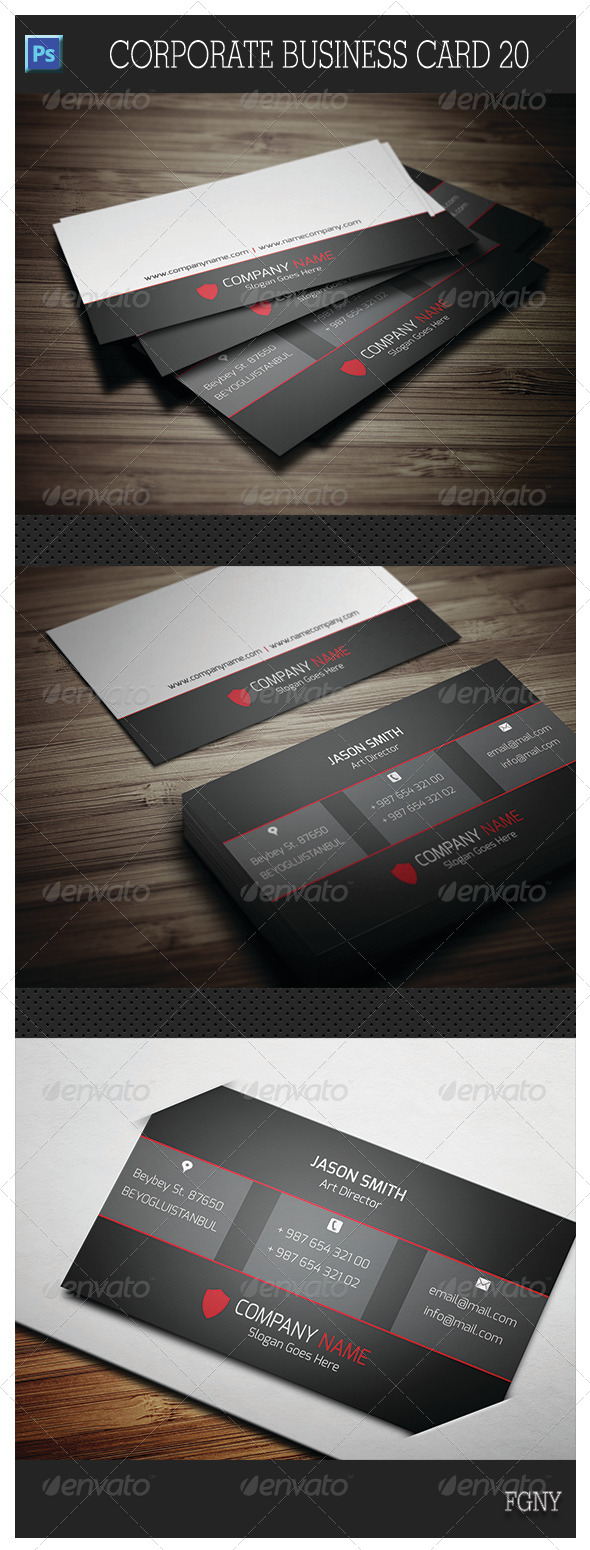GraphicRiver Corporate Business Card 20 5692596