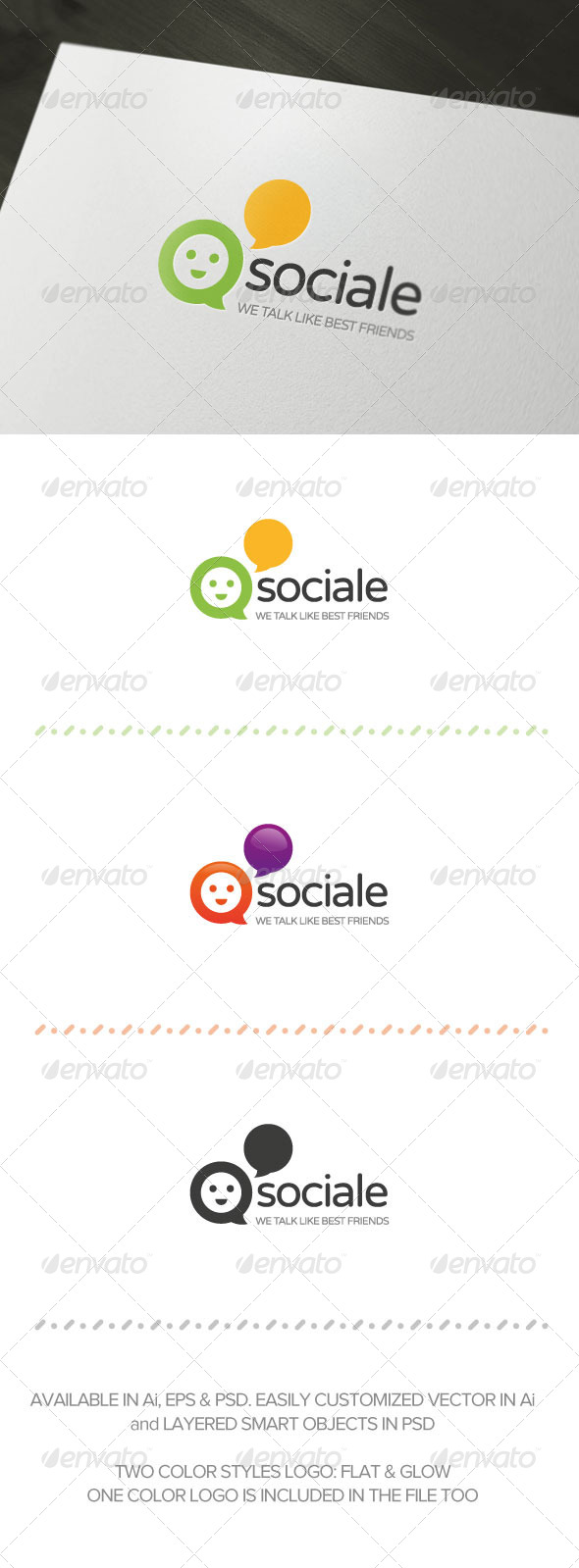 GraphicRiver Sociale Logo Template 5734347
